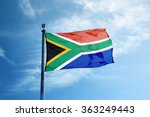 south africa flag on the mast | Shutterstock . vector #363249443