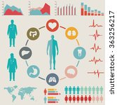 medical infographic set. vector ... | Shutterstock .eps vector #363256217