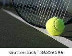 tennis ball and racket | Shutterstock . vector #36326596