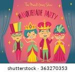 party poster. masquerade... | Shutterstock .eps vector #363270353