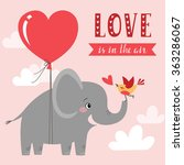cute valentines card. happy...   Shutterstock .eps vector #363286067
