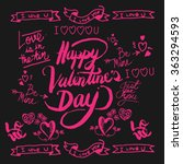 valentines day hand drawn... | Shutterstock .eps vector #363294593