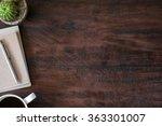 old vintage office desk table...   Shutterstock . vector #363301007