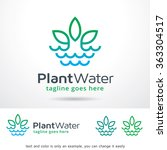 Plant Water Logo Template...