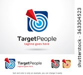 target people logo template... | Shutterstock .eps vector #363304523