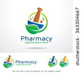 pharmacy logo template design... | Shutterstock .eps vector #363304667