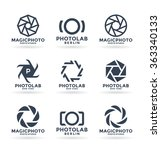 vector icons for photographers  ... | Shutterstock .eps vector #363340133