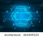 abstract futuristic digital... | Shutterstock .eps vector #363349223