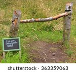 home made wooden fence with a...