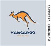 kangaroo. vector logo.   Shutterstock .eps vector #363366983