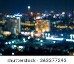 abstract bokeh of bangkok city...   Shutterstock . vector #363377243