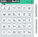 thin line icons set of hotel... | Shutterstock .eps vector #363394067