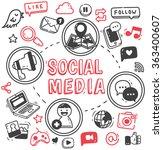 social media or internet themed ... | Shutterstock .eps vector #363400607
