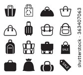 bag icon  | Shutterstock .eps vector #363407063
