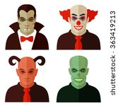 cartoon horror characters  evil ... | Shutterstock .eps vector #363419213