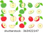 apple. red and green apples...   Shutterstock .eps vector #363422147