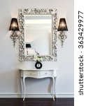 dressing table with large mirror | Shutterstock . vector #363429977