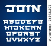 vector joined roofed font... | Shutterstock .eps vector #363431573