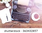 Vintage Black Typewriter On...