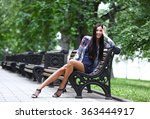 portrait of the brunette with... | Shutterstock . vector #363444917