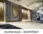 luxury lobby interior.   Shutterstock . vector #363445067