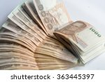 many thai baht currency on... | Shutterstock . vector #363445397