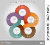 5 options linked circles in... | Shutterstock .eps vector #363450047
