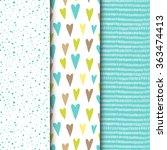set of seamless vector patterns.... | Shutterstock .eps vector #363474413