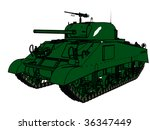 a style of tank for army . | Shutterstock . vector #36347449