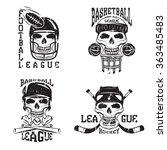 vintage sport vector grunge... | Shutterstock .eps vector #363485483