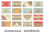 mandala design. vector vintage... | Shutterstock .eps vector #363485633
