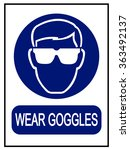wear goggles sign | Shutterstock .eps vector #363492137