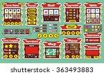 platform game user interface... | Shutterstock .eps vector #363493883
