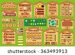 platform game user interface... | Shutterstock .eps vector #363493913