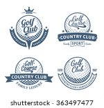 set of golf country club logo...