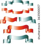 festive ribbon  red and blue | Shutterstock .eps vector #363500057