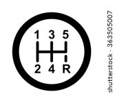 gear shifter icon | Shutterstock .eps vector #363505007