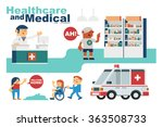 vector illustration drugstore... | Shutterstock .eps vector #363508733