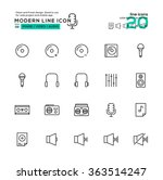 outline icon set of image  ...