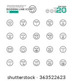 outline icon set of emotion...