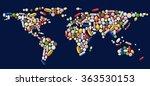illustration of abstract world... | Shutterstock .eps vector #363530153