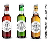 realistic green and brown beer... | Shutterstock .eps vector #363535793