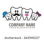 family dental logo icon vector   Shutterstock .eps vector #363540227