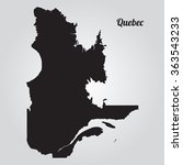 Vector Map Quebec. Gray Vector...