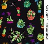 set of isolated flowering... | Shutterstock .eps vector #363545297