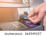 hand inserting atm card into...   Shutterstock . vector #363549257