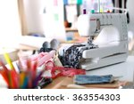 designer work place sewing... | Shutterstock . vector #363554303