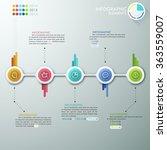 modern infographics process... | Shutterstock .eps vector #363559007