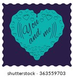 you and me. valentine card