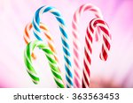 lollipops on a blue background | Shutterstock . vector #363563453